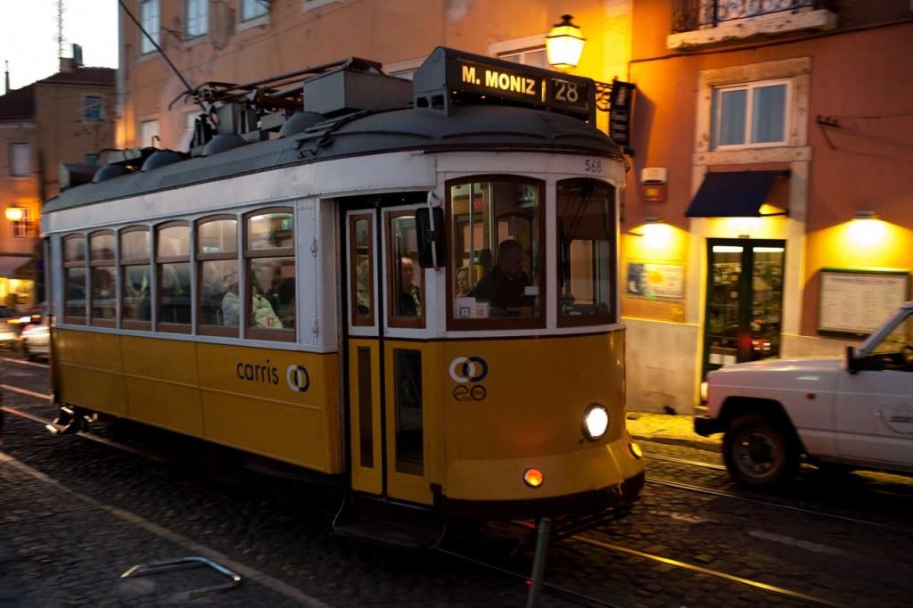 Bekannte Straßenbahnlinie in Lissabon