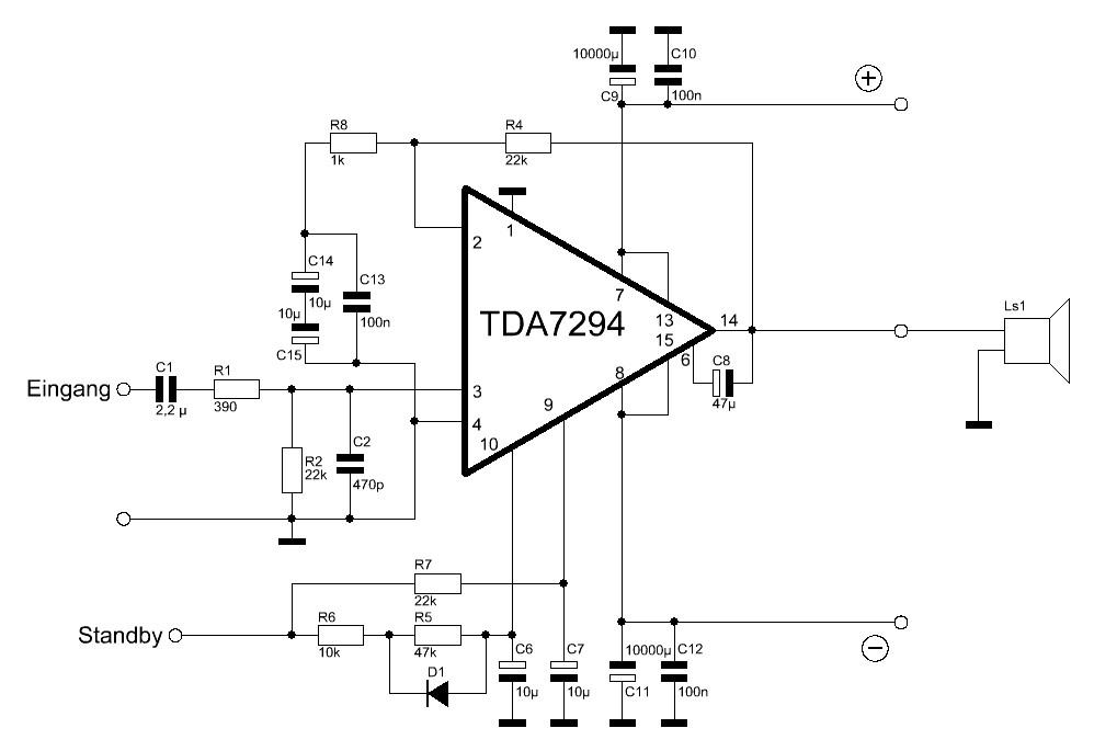 Verstärkermodul mit TDA7294